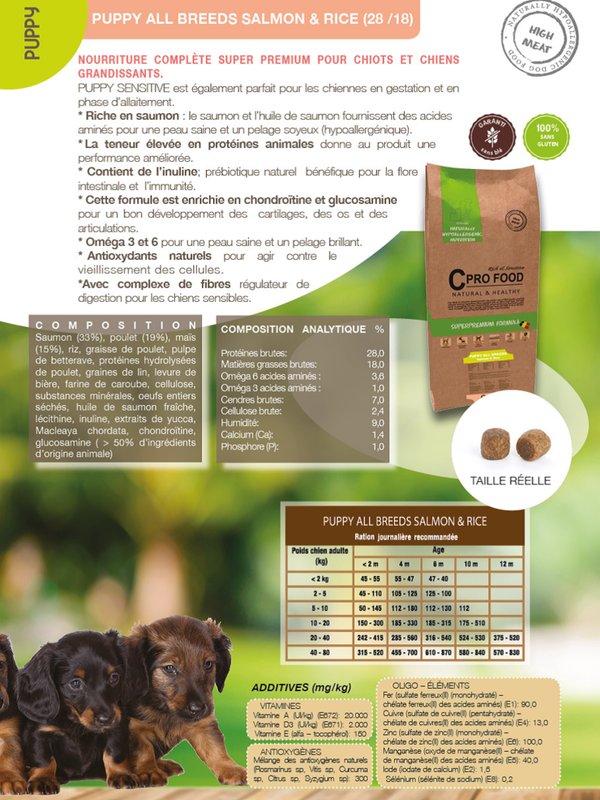 C Profood Puppy all breed || Saumon /Riz