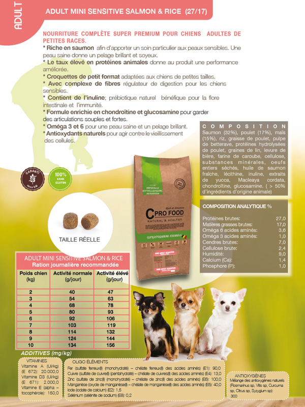 C Profood Adult Small Breed || Saumon /riz