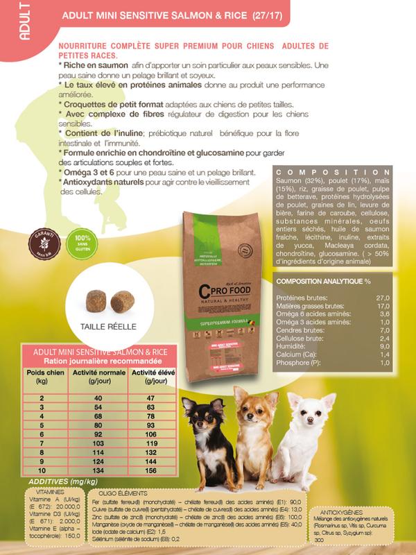 C Profood Adult Small Breed || Saumon /riz